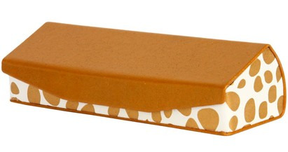 Angle of Reading Glasses Case #1002 in Tan, Women's and Men's  Hard Cases
