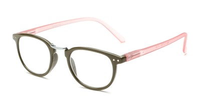 Angle of The Rain in Green/Pink, Women's and Men's Round Reading Glasses