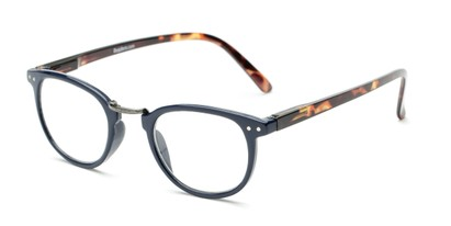 Angle of The Rain in Blue/Tortoise, Women's and Men's Round Reading Glasses