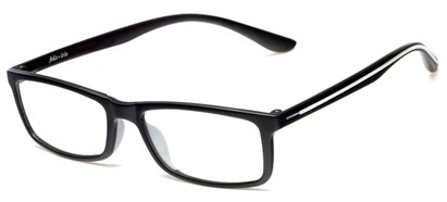 Angle of Rockville by felix + iris in Black + Smoke, Women's and Men's Rectangle Reading Glasses