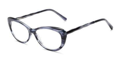 Angle of The Rothschild Signature Reader in Dark Blue, Women's Cat Eye Reading Glasses