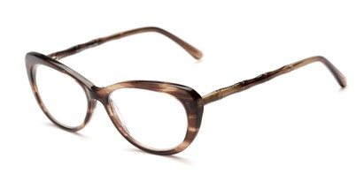 Angle of The Rothschild Signature Reader in Brown, Women's Cat Eye Reading Glasses