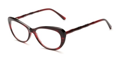 Angle of The Rothschild Signature Reader in Red, Women's Cat Eye Reading Glasses