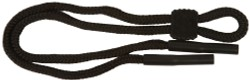 Angle of Braided Neck Cord in Black, Women's and Men's  Neck Cords