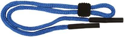 Angle of Braided Neck Cord in Blue, Women's and Men's  Neck Cords