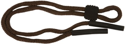 Angle of Braided Neck Cord in Brown, Women's and Men's  Neck Cords