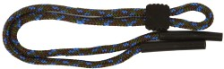 Angle of Braided Neck Cord in Brown Multi, Women's and Men's  Neck Cords