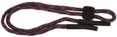 Angle of Braided Neck Cord in Red Multi, Women's and Men's  Neck Cords