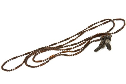 Angle of Orleans Reading Glasses Chain in Brown, Women's  Neck Chains
