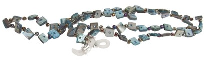 Angle of Seashell Reading Glasses Chain in Grey/Blue, Women's  Neck Cords
