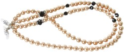 Angle of Pearl Reading Glasses Chain in Champagne, Women's and Men's  Neck Chains