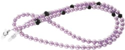 Angle of Pearl Reading Glasses Chain in Purple, Women's and Men's  Neck Chains