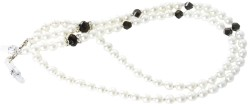 Angle of Pearl Reading Glasses Chain in White, Women's and Men's  Neck Chains