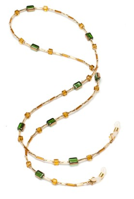 Angle of The Leona Reading Glasses Chain in Gold Multi, Women's  Neck Chains