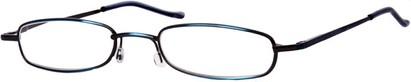 Angle of The Calvin in Blue, Women's and Men's Rectangle Reading Glasses