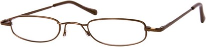 Angle of The Calvin in Brown, Women's and Men's Rectangle Reading Glasses