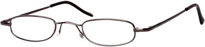 Angle of The Calvin in Grey, Women's and Men's Rectangle Reading Glasses