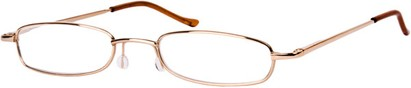 Angle of The Calvin in Gold, Women's and Men's Rectangle Reading Glasses