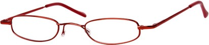 Angle of The Calvin in Red, Women's and Men's Rectangle Reading Glasses