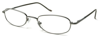 Angle of The Harding in Grey, Women's and Men's Oval Reading Glasses