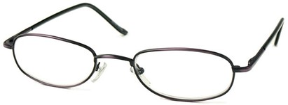 Angle of The Harding in Purple, Women's and Men's Oval Reading Glasses