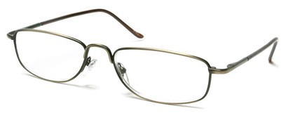 Angle of The Truman in Brushed Gold and Brown, Women's and Men's