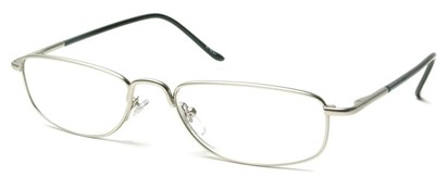 Angle of The Truman in Glossy Silver and Black, Women's and Men's