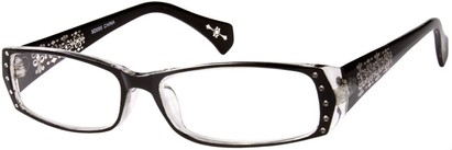 Angle of The Genevieve in Black and Clear, Women's and Men's