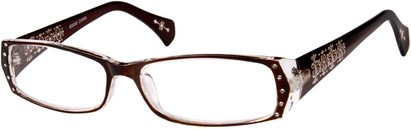 Angle of The Genevieve in Brown and Clear, Women's and Men's