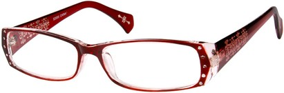 Angle of The Genevieve in Red and Clear, Women's and Men's