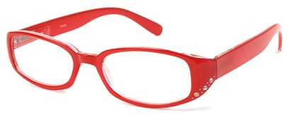 Angle of The Eloise in Bright Red/Clear, Women's and Men's