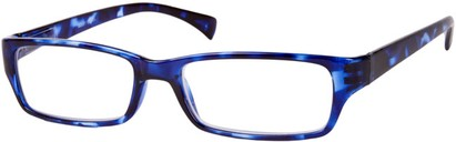 Angle of The Mitchell in Blue Tortoise, Women's and Men's Rectangle Reading Glasses