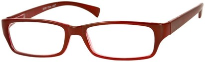Angle of The Mitchell in Dark Red, Women's and Men's Rectangle Reading Glasses
