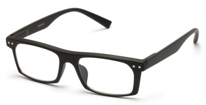 Angle of The Pete in Black, Women's and Men's Rectangle Reading Glasses