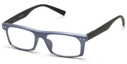 Angle of The Pete in Blue/Black, Women's and Men's Rectangle Reading Glasses