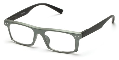 Angle of The Pete in Green/Black, Women's and Men's Rectangle Reading Glasses