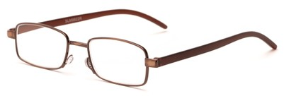 Angle of The Piper in Bronze/Brown, Women's and Men's Rectangle Reading Glasses