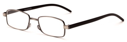 Angle of The Piper in Gunmetal/Black, Women's and Men's Rectangle Reading Glasses
