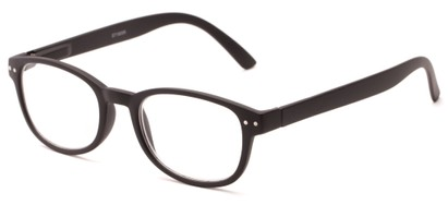 Angle of The Jude in Black, Women's and Men's Retro Square Reading Glasses