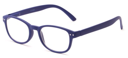 Angle of The Jude in Blue, Women's and Men's Retro Square Reading Glasses