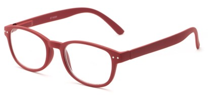Angle of The Jude in Red, Women's and Men's Retro Square Reading Glasses