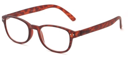 Angle of The Jude in Tortoise, Women's and Men's Retro Square Reading Glasses