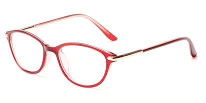 Angle of The Peach in Red, Women's Cat Eye Reading Glasses