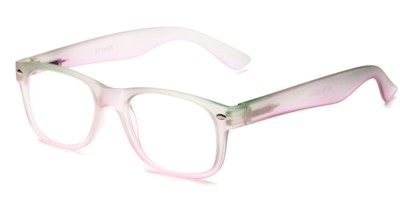Angle of The Valentine in Green/Pink, Women's and Men's Retro Square Reading Glasses