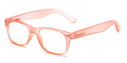 Angle of The Valentine in Pink/Orange, Women's and Men's Retro Square Reading Glasses