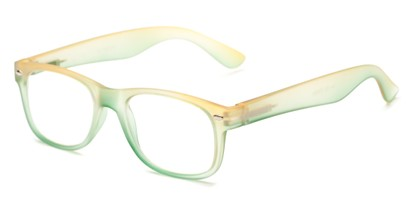 Angle of The Valentine in Yellow/Green, Women's and Men's Retro Square Reading Glasses