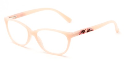 Angle of The Serenity in Light Pink, Women's Cat Eye Reading Glasses