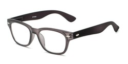 Angle of The Himes in Black, Women's and Men's Retro Square Reading Glasses