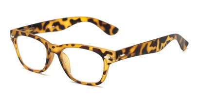 Angle of The Himes in Tortoise, Women's and Men's Retro Square Reading Glasses