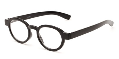 Angle of The Myrtle in Black, Women's and Men's Round Reading Glasses